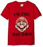 Nintendo Camiseta para niño Big Bro Graphic, Rojo/Oficial Big Dark Brown Youth...