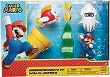 Nintendo Super Mario Underwater 2.5' Figure Diorama Play Set, Includes: Mario,...