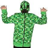 Minecraft Creeper - Sudadera con capucha para jóvenes, color verde