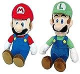 Little Buddy Set of 2 Super Mario All Star 1414 Mario & 1415 Luigi Stuffed Plush...