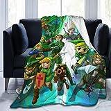 XUDONGXUU The Legend of Zelda Manta con sombrero de franela cálida manta para...