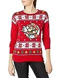 Nintendo Ugly - Suéter de Navidad para Mujer, Rojo, M