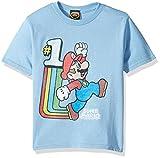 Nintendo Old School Cool Graphic - Playera para niño, Azul Claro, 5 Años