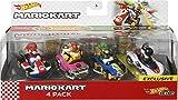 Vehículos de Juguete Hot Wheels Mario Kart Paquete de 4 autos, Multicolor