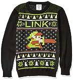 Nintendo Suéter navideño Feo para niños, Eslabón/Negro, 16