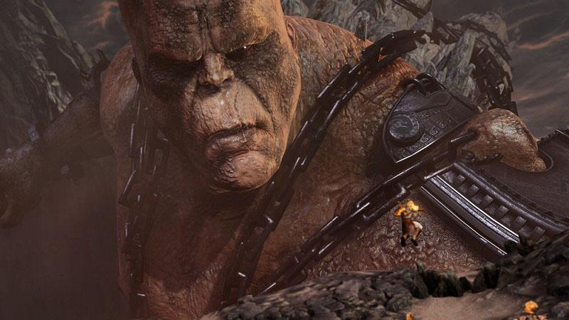 Batalla de Kratos contra el Titán Cronos